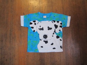 This is one of our recent custom-painted T-shirts.