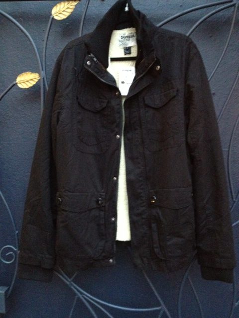 black.mens.jacket.fleece.liner