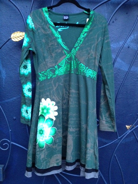 Desigual.Issue.green.dress