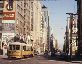 Los Angeles streetcar from 1963