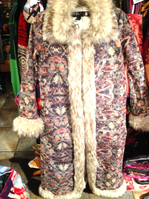 Lacroix.full.length.coat.with.fake.fur.trim