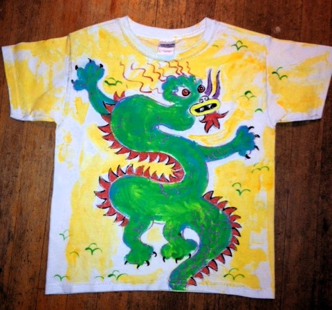 I recently painted this kids dragon shirt for a customer of NGEL vANCOUVER (ANGELVANCOUVER.COM)