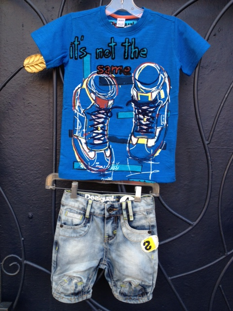 Deisgual.kids.Limon.denim.shorts.&.Potones.shirt