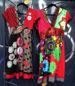 Desigual.Oslo.dress.left.Huesca.dress.right