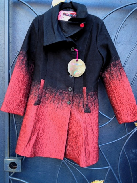Desigual Suenos Liquidos coat at angelvancouver.com
