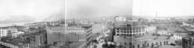 vancouver.business.district.looking.east.early.1900s