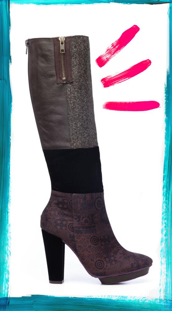 Desigual.rainbow.boots.manchas