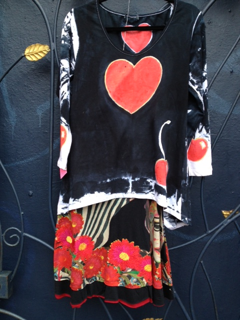 Angel.handpainted.heart.shirt.cirque.sin.phony.skirt