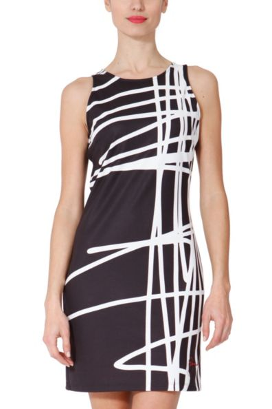 """This is the Desigual """"Sil"""" dress from the Black & White collection for 2013. Photo by Desigual."""