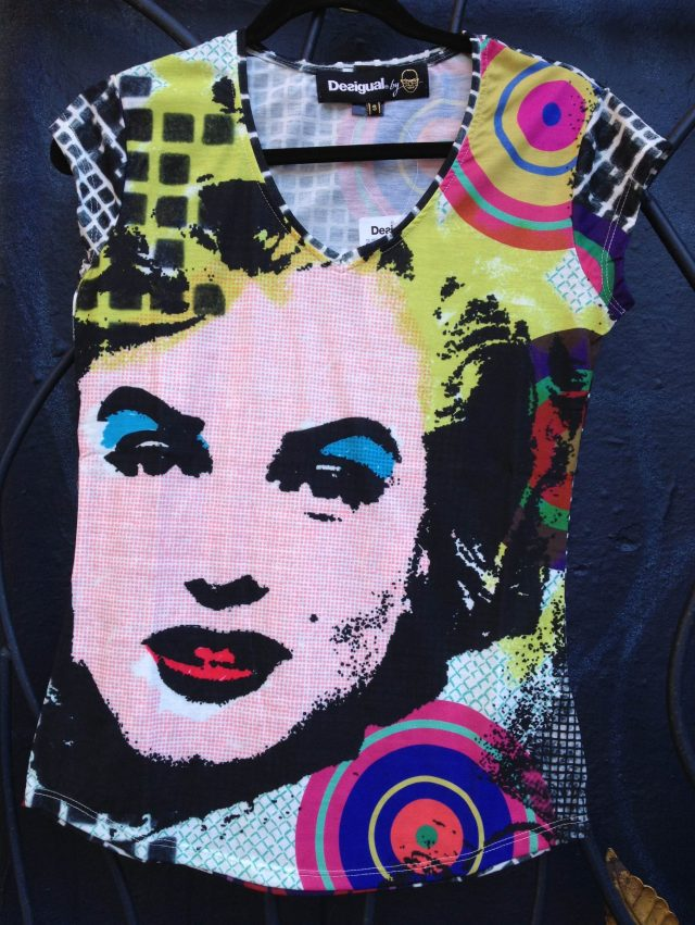 Desigual ANDY WORHOL Marilyn Monroe top by Christian Lacroix 2013