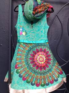 Desigual.Galactic.dress.$119.and.Desigual.scarf.$44