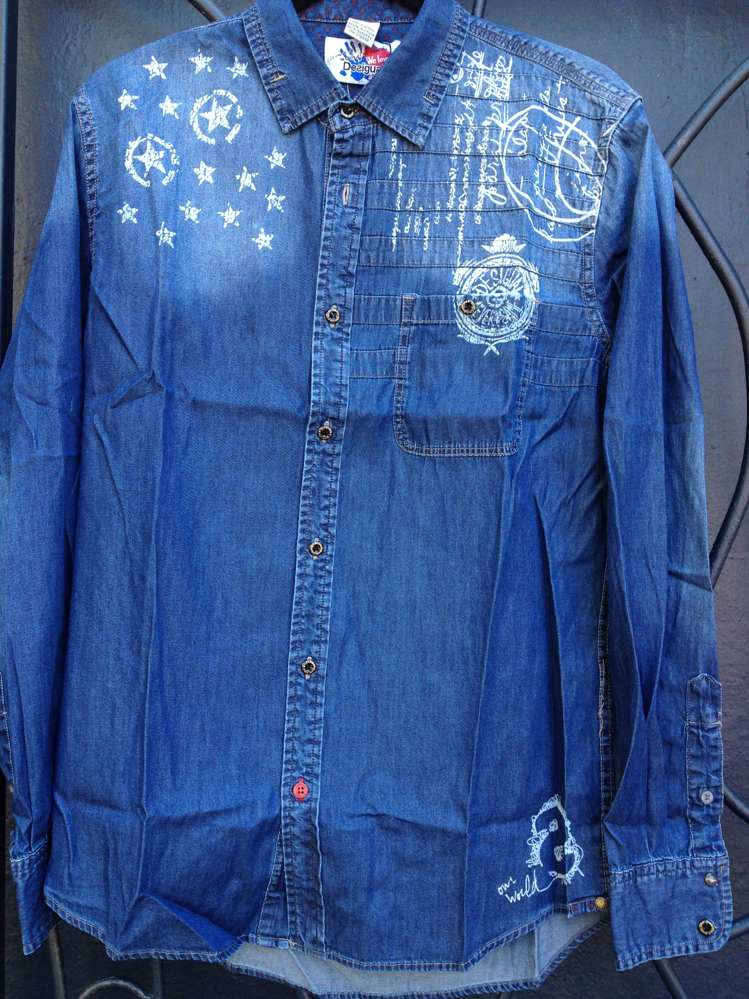 New desigual for men for 2013 fall winter angelvancouver for Mens shirt with stars