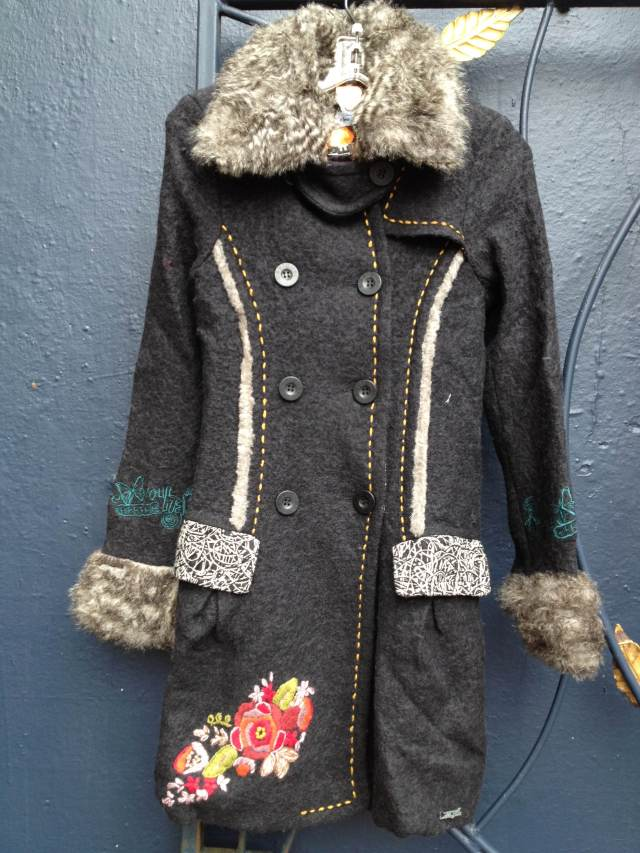 Desigual.coat.fur.trim.collar