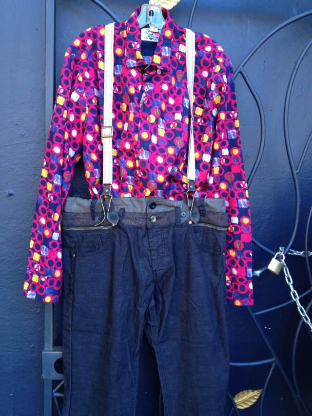 Desigual.mens.pants.Diezs.with.suspenders.$189
