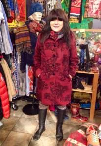 Desigual.Abstraccion.Feminina.coat.$329.worn.by.Jackie