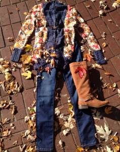 Desigual.Ethnic.sweater.$189.jeans.boot.fall.leaves.2013
