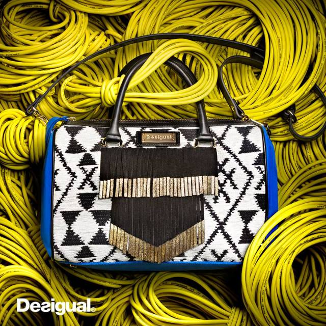 Desigual.blue.white.purse