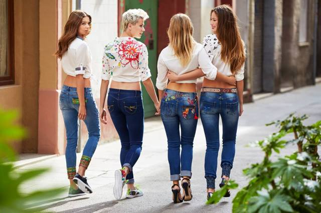 Angel has a variety of Desigual jeans for Spring-Summer 2016