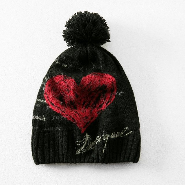 Desigual HEART knitted hat. $69.95.