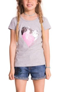 Desigual Ayabarrena T-shirt for kids with reversible sequins. $48.