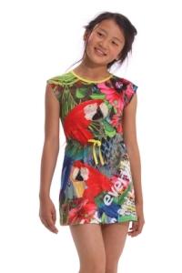 Desigual.kids.MAGNIFIER.DRESS.parrots.SS2014