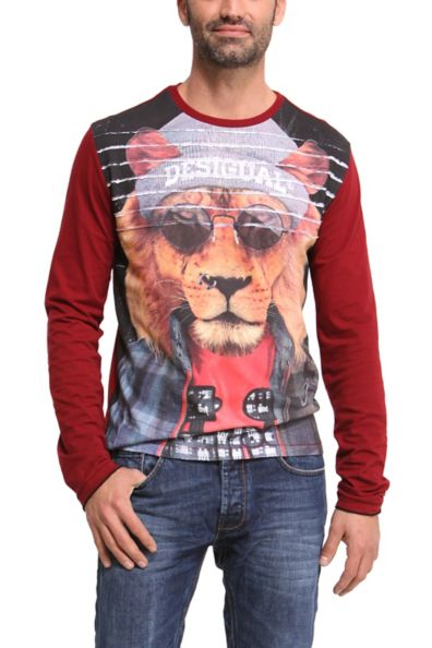 Desigual.man.LION.JOHN.Tshirt.$99.FW2014