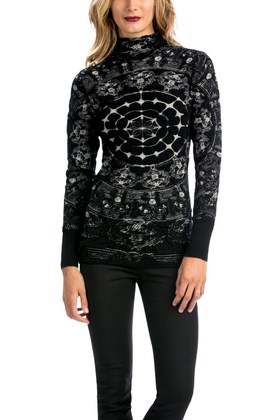Desigual MIGAS sweater by Christian Lacroix. $140. Fall-Winter 2015