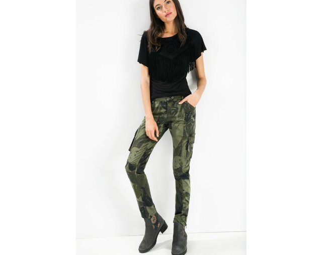 Desigual OSCURO camouflage (heart) pants.