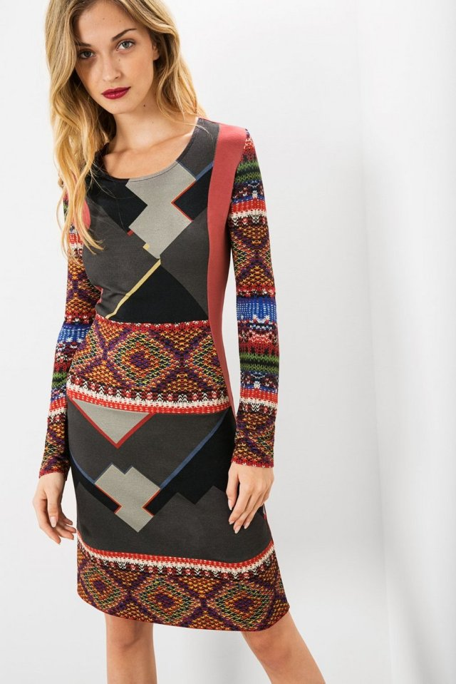 Desigual ROYN dress. $165.95. Fall-Winter 2015