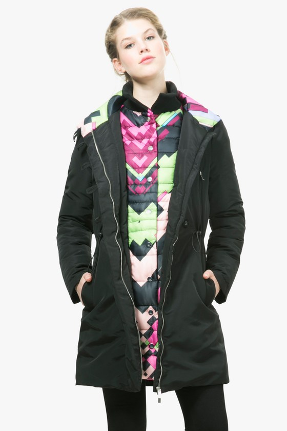Desigual SILVIA winter coat by Christian Lacroix. $359.95. Zip out coloured lining.