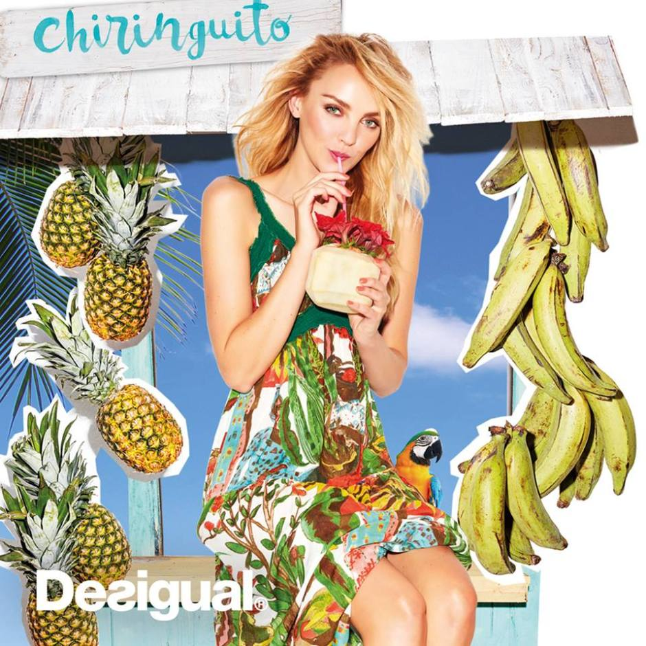 Desigual has the taste of summer for a Chiringuito. Supring-Summer 2016 collection.
