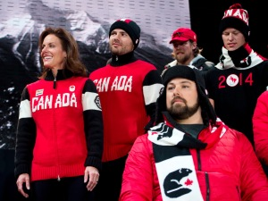 Unforms of Canada's Olympic team, 2014.