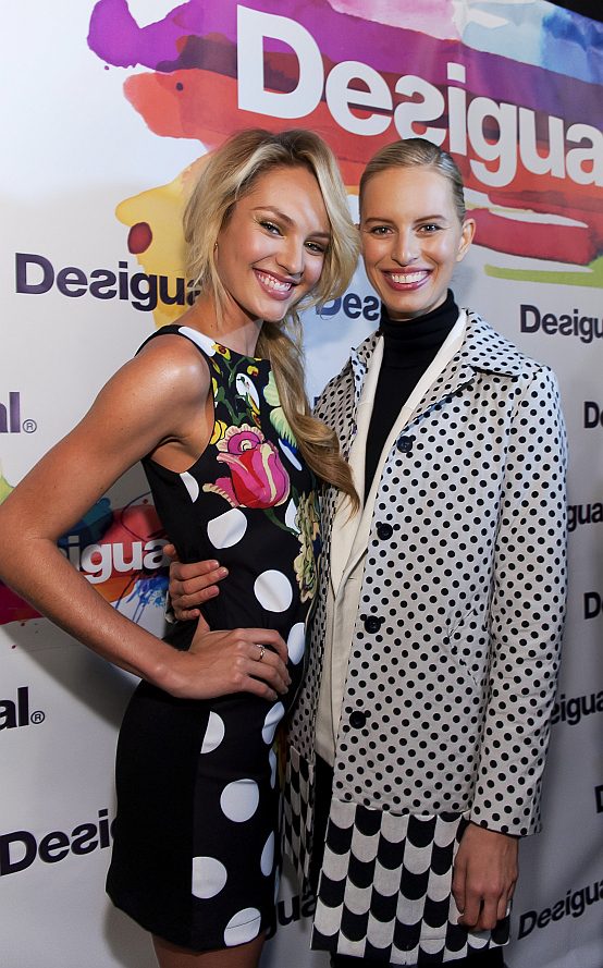 Candice-Swanepoel-and-Karolina-Kurkova-at-Desigual-photocall