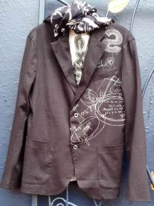 Desigual.IMPORAHI.blazer.$189.with Letrados.mens.scarf.$74