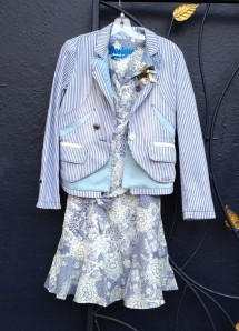 Desigual.KLAUS.jacket.$254.and.MONICA.dress.$144.spring.summer.2014