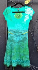 Desigual.PARIS.dress.green.$124.Spring.Summer.2014