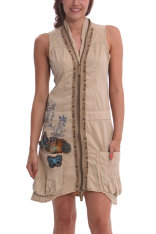 Desigual.Meryane.dress.sand.colour