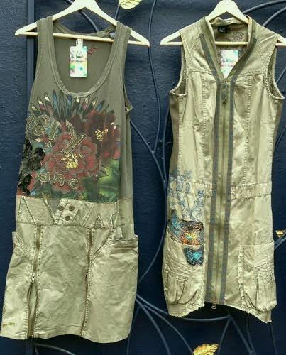Desigual.Meryane.zip.dress.$174.&. Natalia.dress. $214