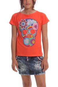 Desigual.kids.EZRA.tshirt.orange.Mexican.imagery