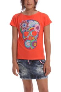 Desigual.kids.EZRA.tshirt.orange.Mexican.imagery