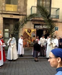 Barcelona.Day2.Palm.Sunday.procession