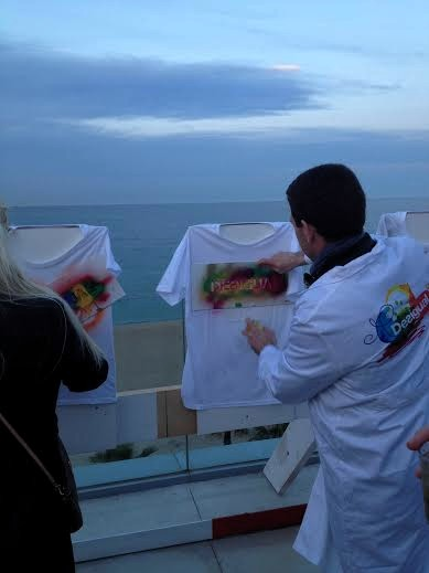 Barcelona.HQ.rooftop.Tshirt.painting.2014