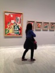 Barcelona.Picasso.museum.Jackie.in.front.of.painting.2.2014