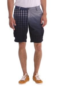 Desigualmen.blue.plaid.woven.shorts.summer2014