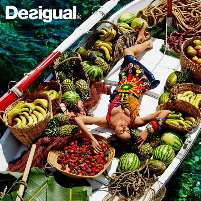 Desigual.colour.fruit.boat.Railey.dress