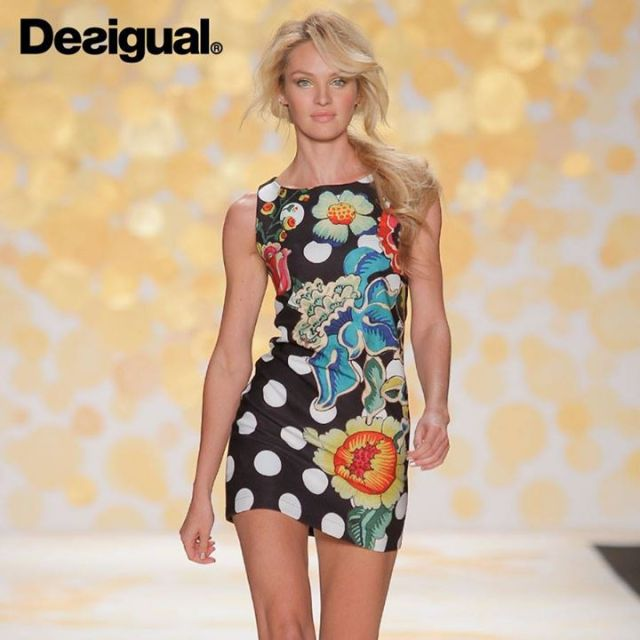 Desigual.FW2014.JANET.dress.worn.by.Candace.Swanpoel