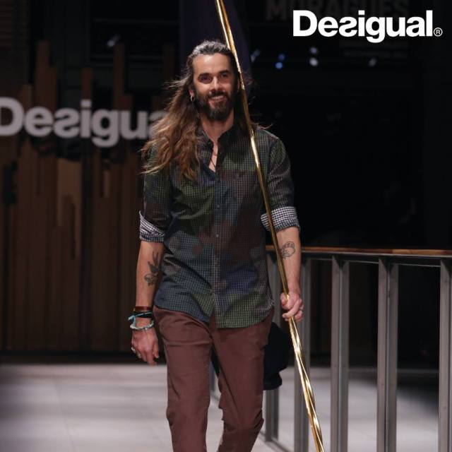 Desigual STALLONES shirt for men with camouglage check pattern. Now at Angel