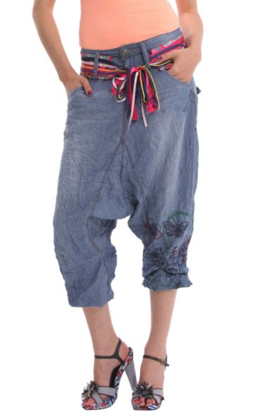 Desigual.Concha.denim.harem.pants
