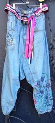 Desigual denim pantaloons $154.FW2014