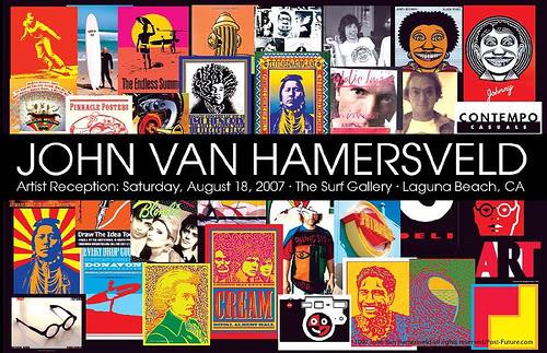 John Van Hamersveld.art.show.opening